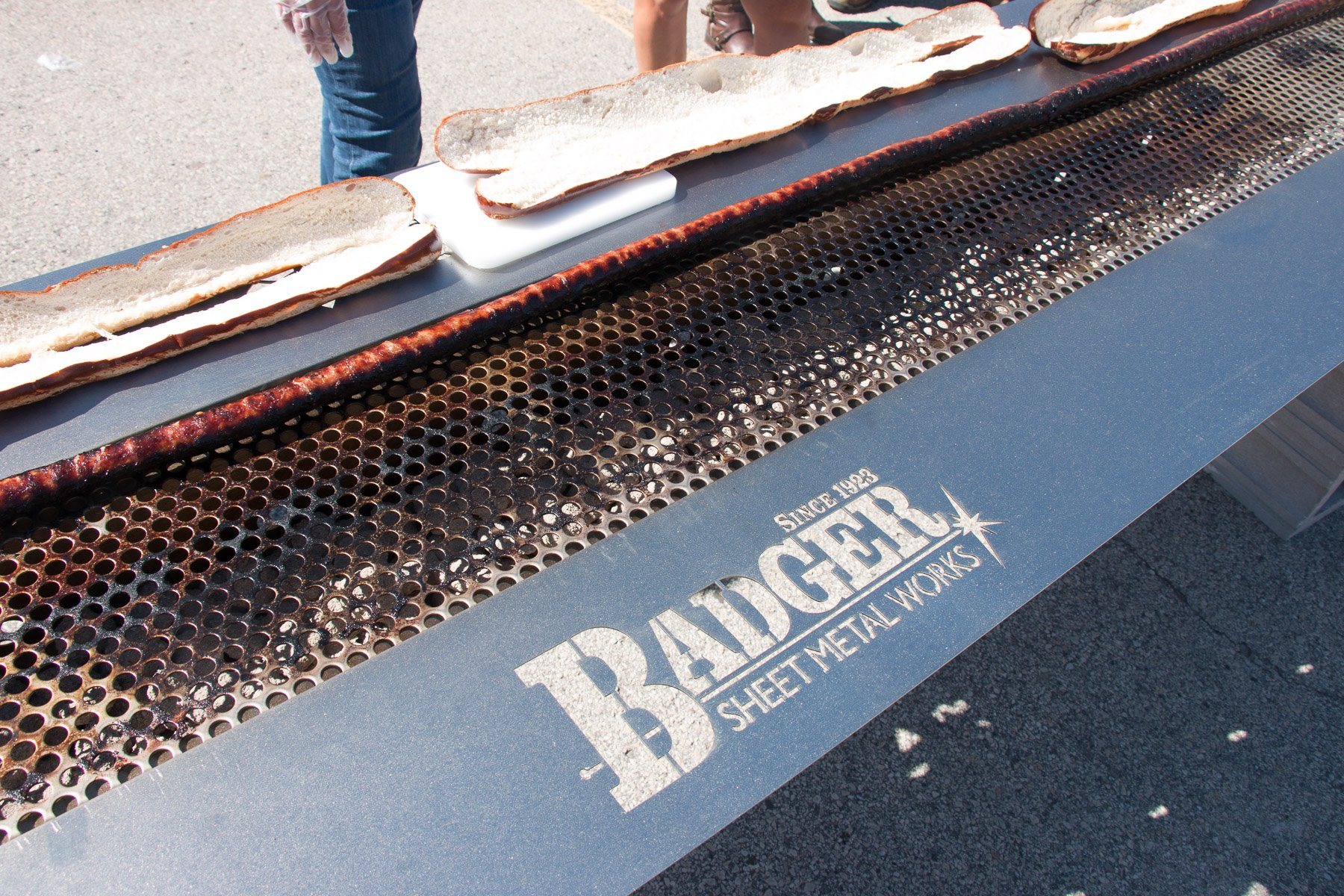 Badger Sheet Metal Works Provides 360-Foot Grill for Record Brat