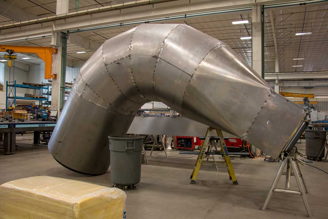 Badger Sheet Metal Works duct fabrication